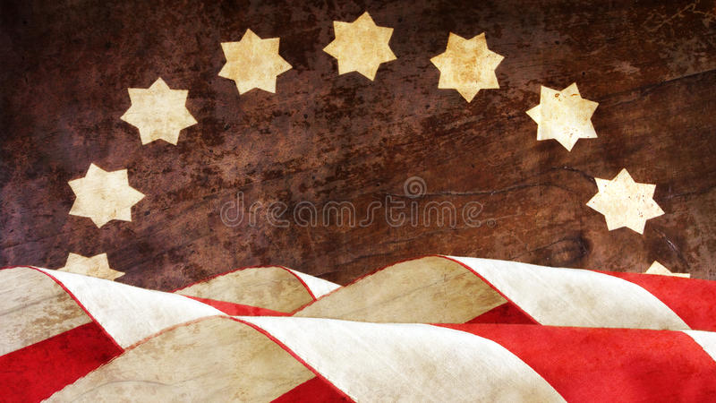 vi förseglar och banerillustrationdesignen flagga USA royaltyfria foton