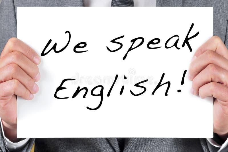Vi talar engelska arkivfoton