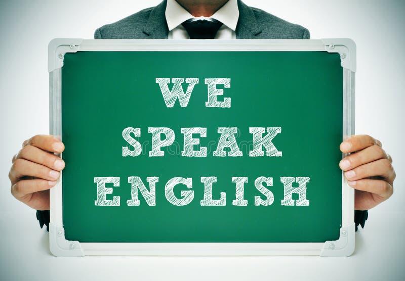 Vi talar engelska arkivbilder