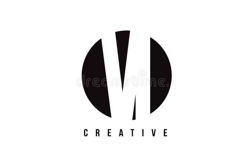VI V mim letra branca Logo Design com fundo do círculo ilustração do vetor