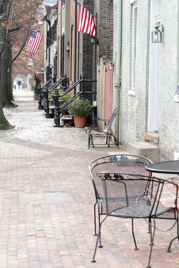 Via a Alessandria, la Virginia fotografia stock libera da diritti