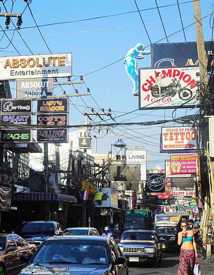 Via ambulante di Pattaya fotografia stock
