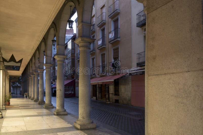 Via antica di Valladolid immagini stock libere da diritti