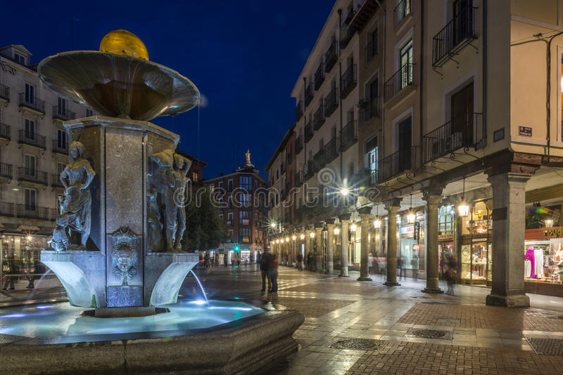 Via antica di Valladolid fotografie stock