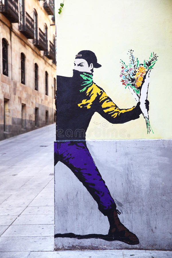 Via Art Mural immagine stock