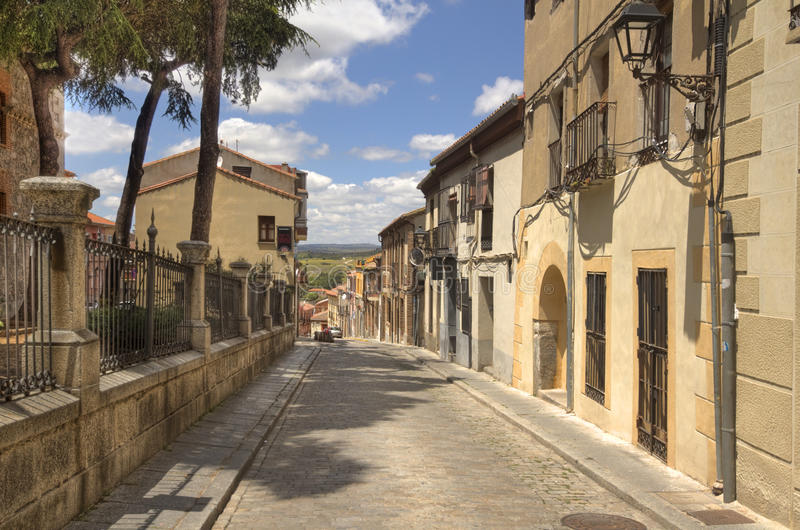 Via a Avila, Spagna immagine stock