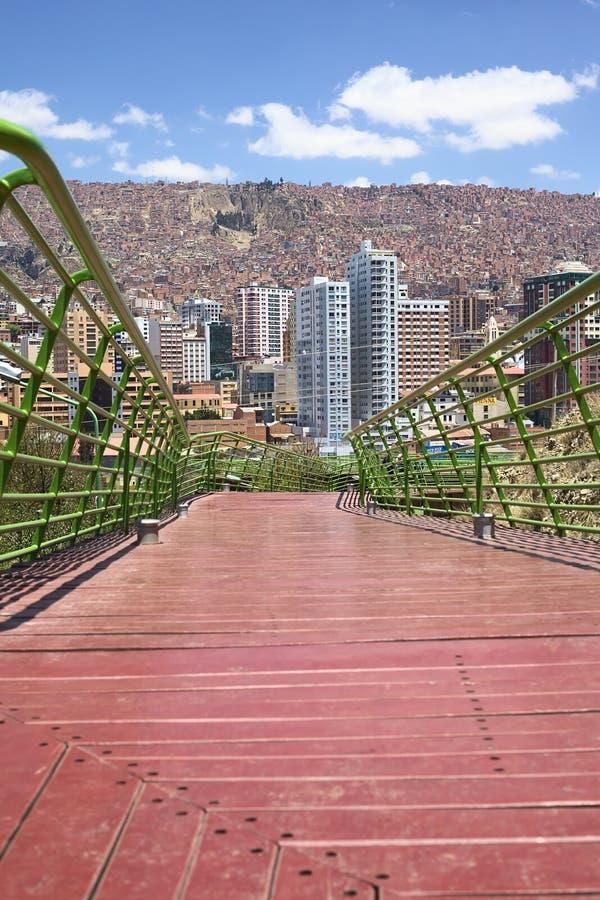 Free Via Balcon Pedestrian Path In La Paz, Bolivia Royalty Free Stock Images - 49975519
