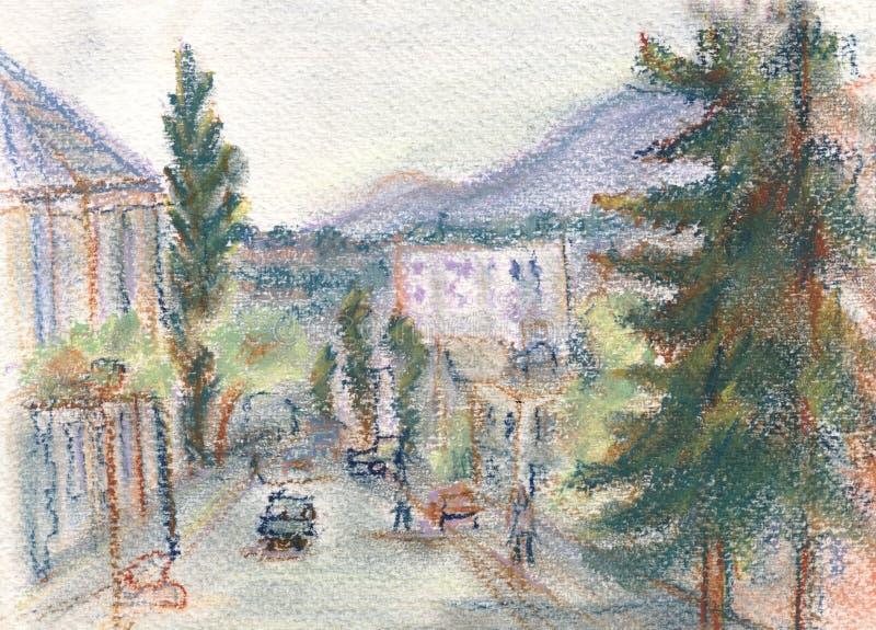 Download Via Batumi illustrazione di stock. Illustrazione di marciapiede - 30830061
