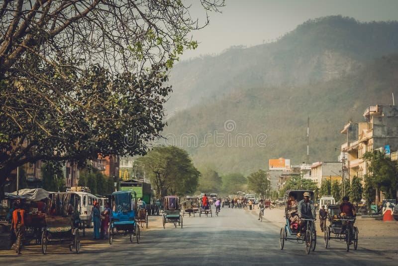 Via in Butwal fotografia stock libera da diritti