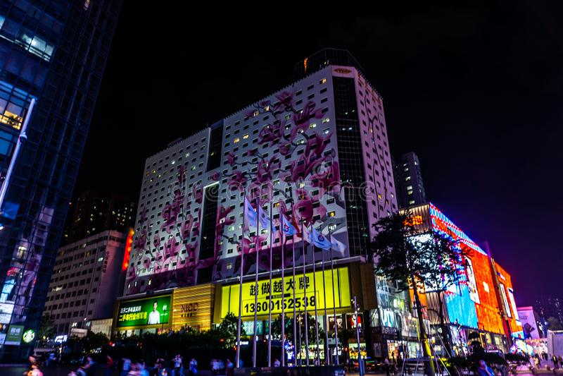 Via commerciale del nord 3 di Shenzhen Huaqiang immagine stock libera da diritti