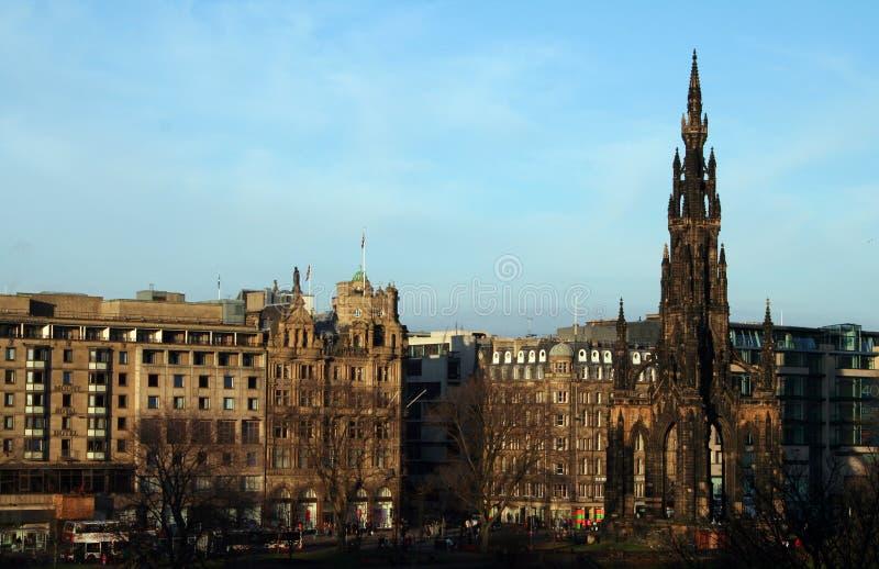 Via dei principi di Edinburgh. fotografia stock