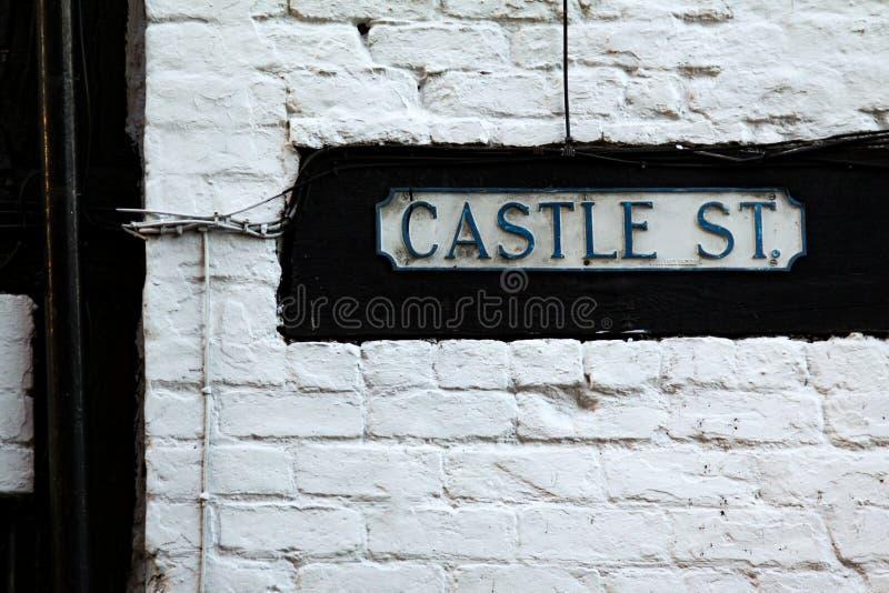 Via del castello fotografia stock