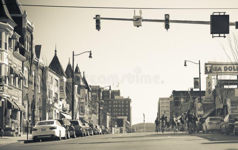 Via del centro di Allentown immagine stock libera da diritti