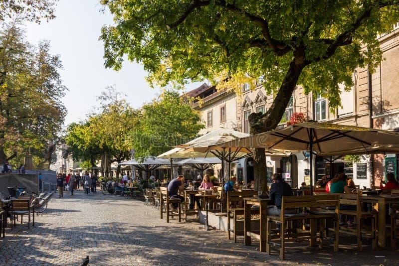 Via del centro di Transferrina lungo il canale, posto turistico del famouse sopra immagine stock libera da diritti