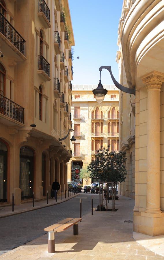Via del centro Libano di Beirut immagini stock