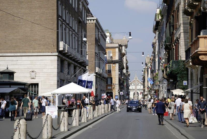 Via del Corso a Roma immagine stock libera da diritti