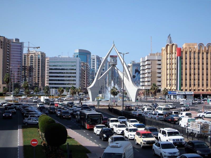 Via del Dubai moderno fotografie stock