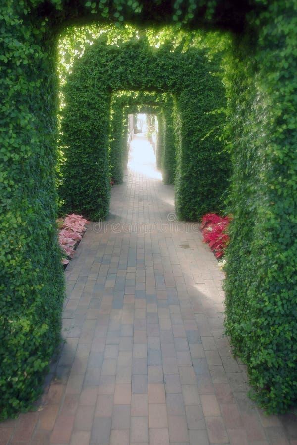 Via del giardino immagini stock