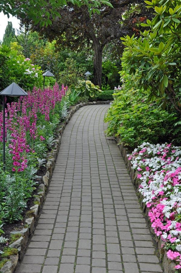 Via del giardino in primavera fotografia stock libera da diritti