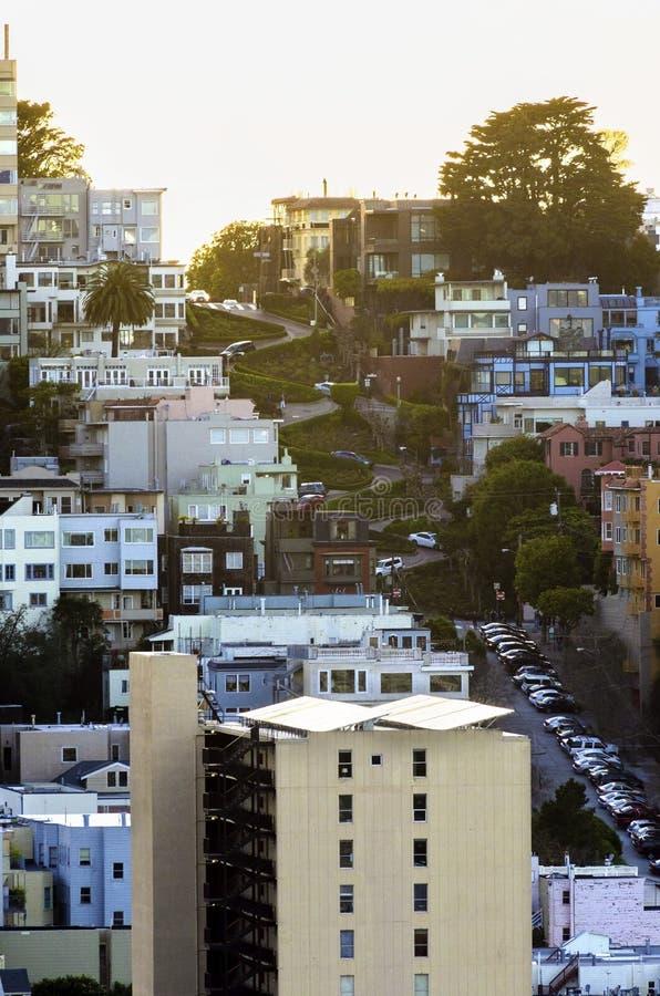 Via del Lombard, San Francisco, California fotografia stock