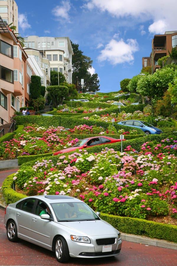 Via del Lombard, San Francisco, California fotografia stock libera da diritti