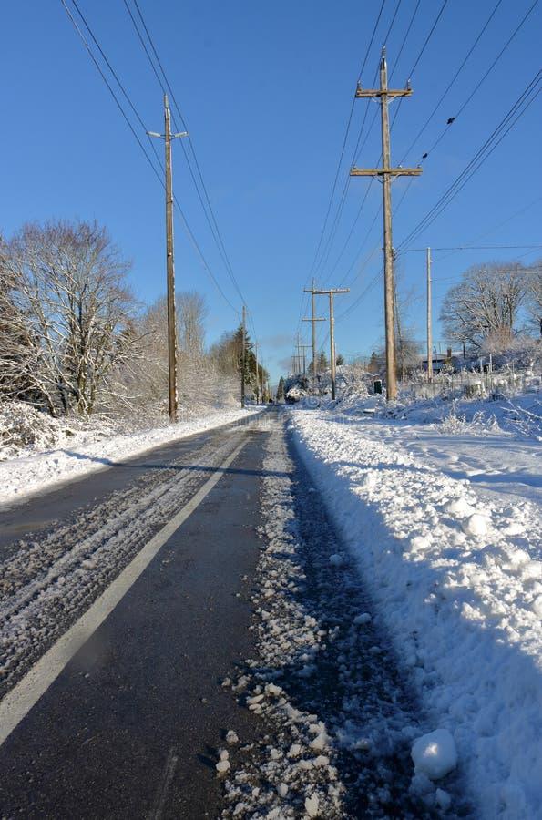 Via del pedone di inverno immagine stock libera da diritti