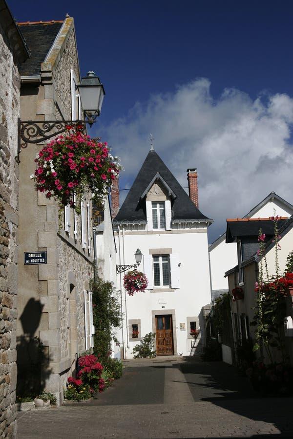 Via Del Villaggio Del Brittany Fotografie Stock