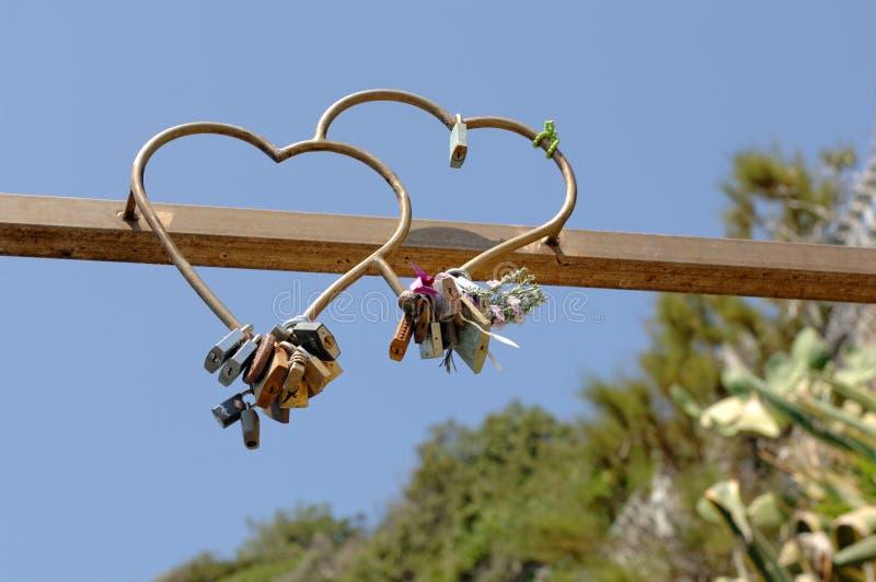 Via Dell 'Amore in Cinque Terre, Italië stock foto's