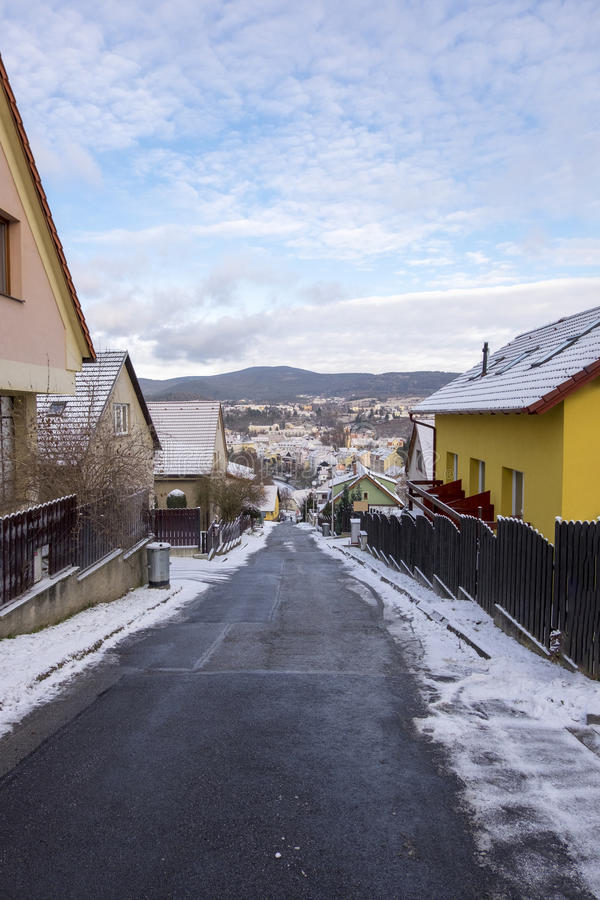 Via della città di Cesky Krumlov fotografie stock