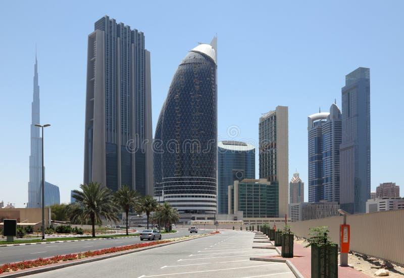 Via della città in Doubai fotografia stock libera da diritti