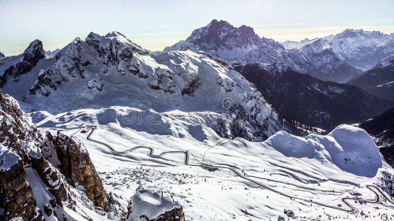 Via della montagna immagini stock libere da diritti