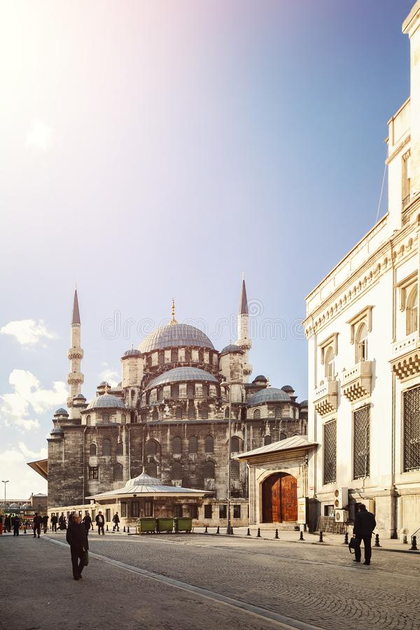 Via della moschea di Beyazit fotografie stock libere da diritti