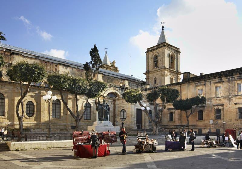 Via della Repubblica a La Valletta malta immagine stock libera da diritti