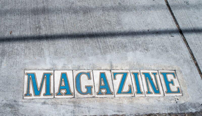 Via della rivista a New Orleans, Luisiana fotografia stock
