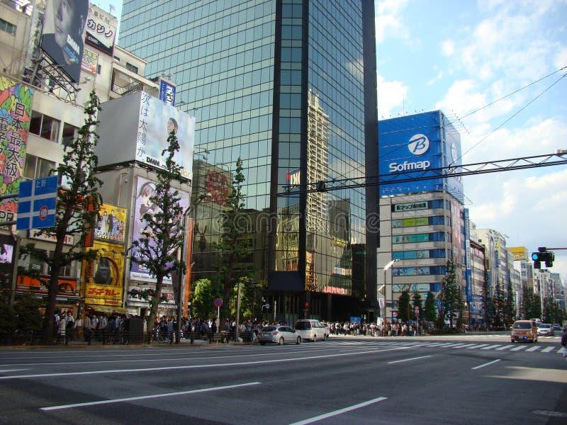 Via di Akihabara fotografia stock