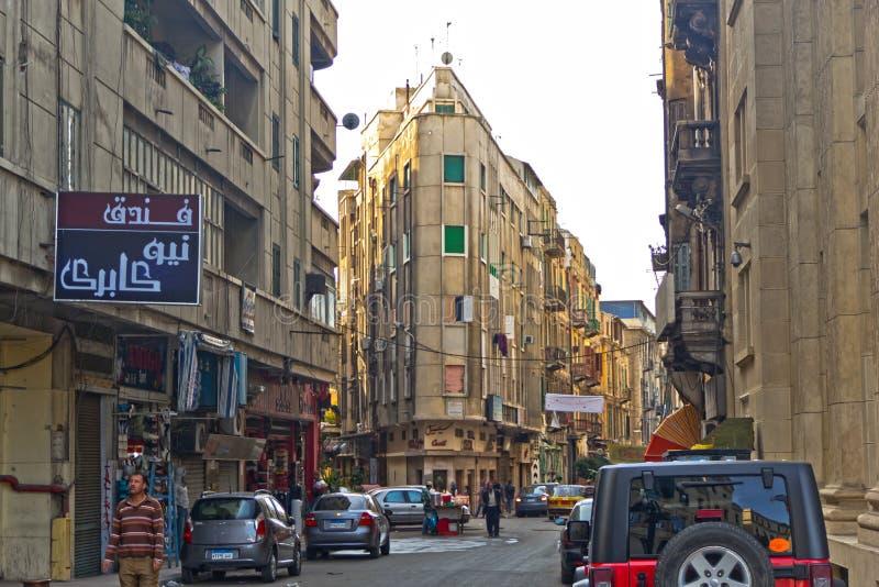 Via di Alessandria, Egitto. immagine stock