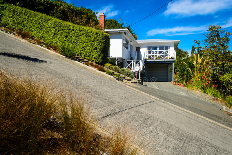 Via di Baldwin, Dunedin, Nuova Zelanda immagini stock libere da diritti