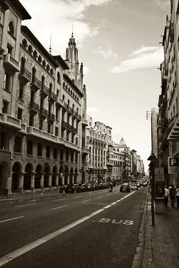 Download Via di Barcellona immagine stock. Immagine di traffico - 3132737