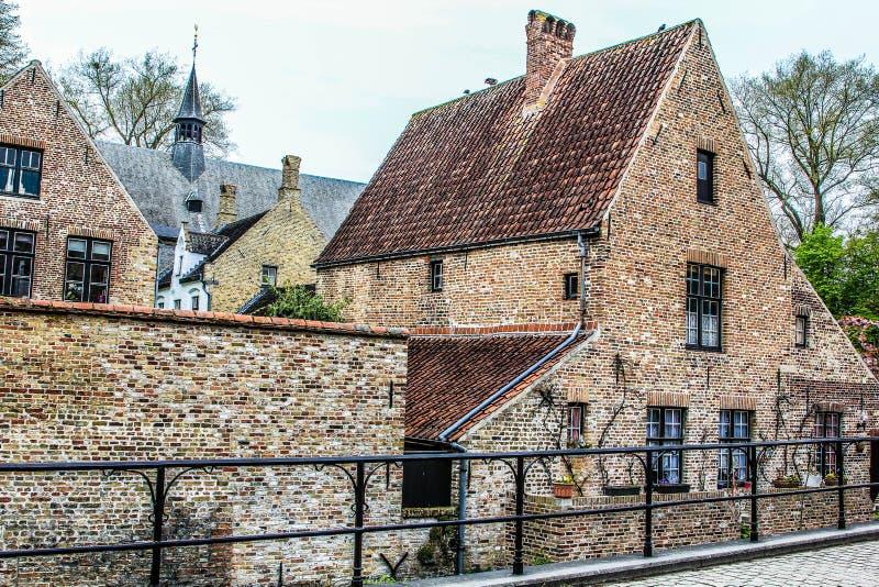 Via #1 di Bruges fotografia stock
