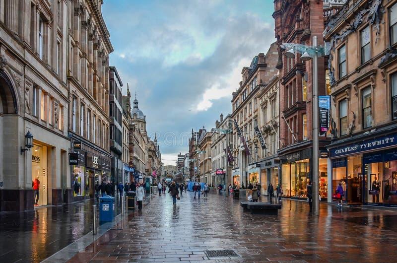Via di Buchanan a Glasgow immagine stock