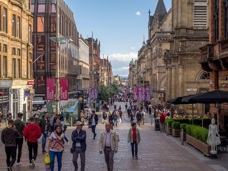 Via di Buchanan a Glasgow fotografia stock