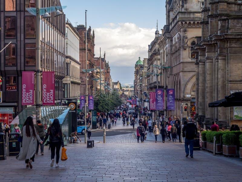 Via di Buchanan a Glasgow fotografia stock libera da diritti