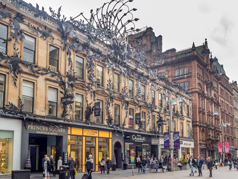 Via di Buchanan a Glasgow immagini stock