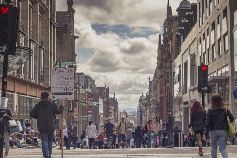 Via di Buchanan, Glasgow, Scozia fotografia stock