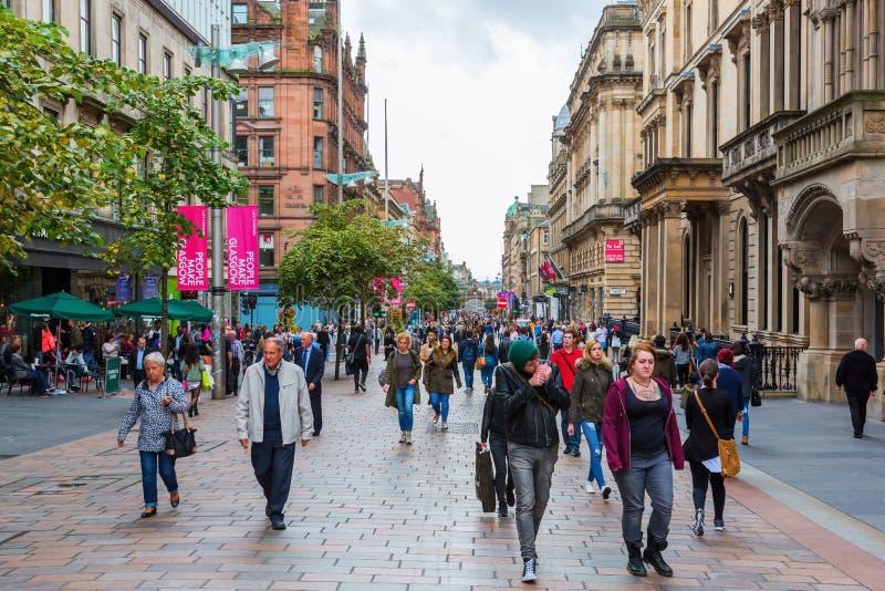 Via di Buchanan a Glasgow, Scozia, Regno Unito fotografie stock libere da diritti