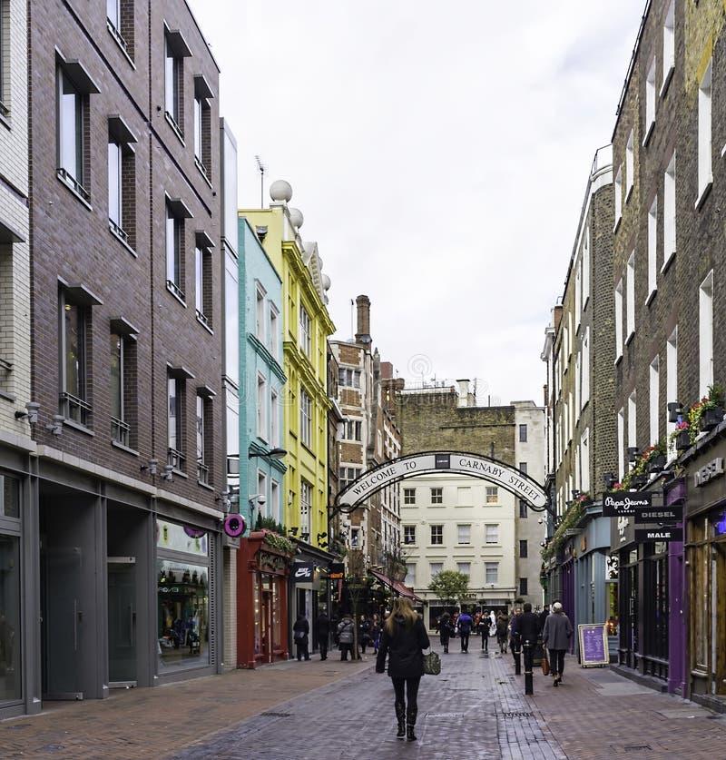 Via di Carnaby, Londra, Inghilterra immagine stock libera da diritti