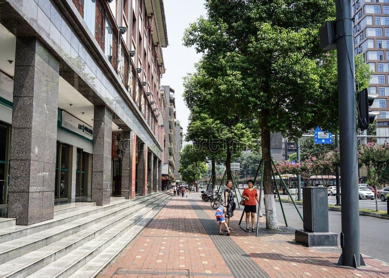 Via di Chengdu, Cina immagine stock libera da diritti