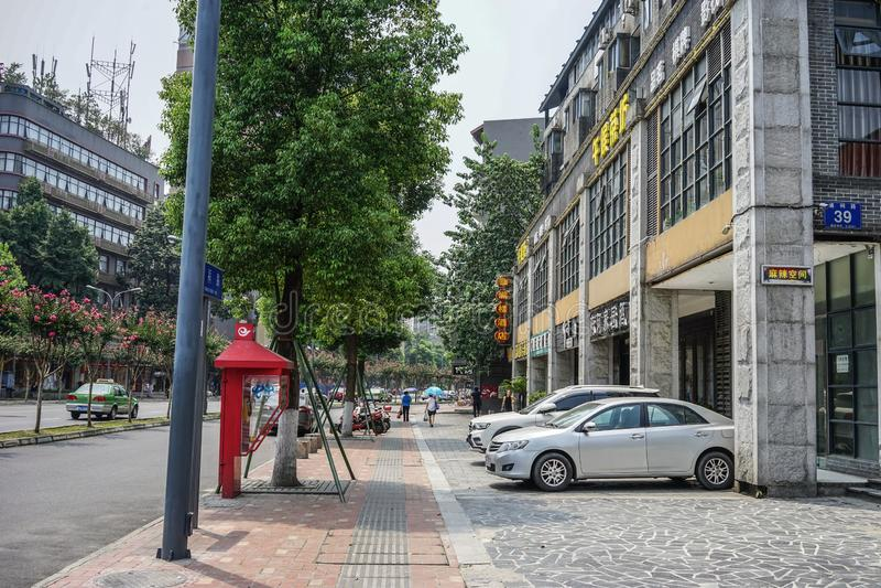 Via di Chengdu, Cina fotografie stock