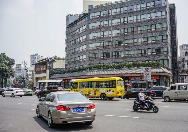 Via di Chengdu, Cina fotografie stock libere da diritti