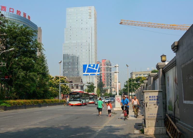Via di Chengdu, Cina fotografia stock